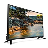Full HD de 32 Pulgadas LED Smart TV Televisión, 2.4G / 5G Dual WiFi Television HDMI USB2.0 Ultra Thin LCD Smart Android TV 10000: 1 Diseño Estrecho de Alto Contraste dinámico